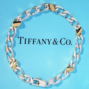 Tiffany Silver & Yellow Gold Curb link ~ Mariners